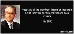 Practically all the prominent leaders of thought in 