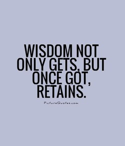 WISDOM NOT 