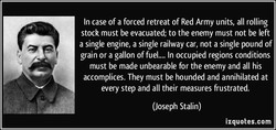 In case of a forced retreat of Red Army units, all rolling 