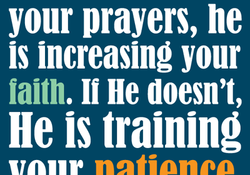 your prayers, he 