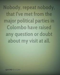 Nobody, repeat nobody, 