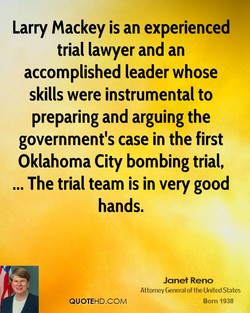 Larry Mackey is an experienced 