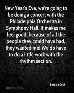 New Year's Eve, we're going to 