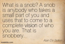 What is a snob? A snob 