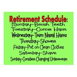 Retirement Schedule: 