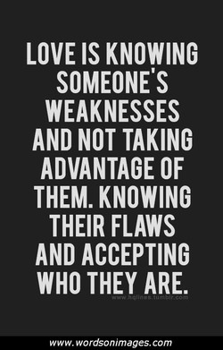 LOVE IS KNOWING 