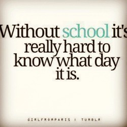 Without school It 