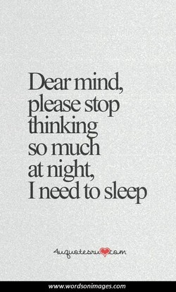 Dear mind, 