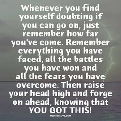 Whenever you find 