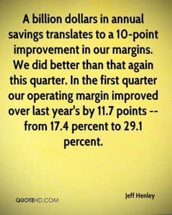 A billion dollars in annual 