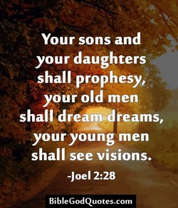 Your sons and 