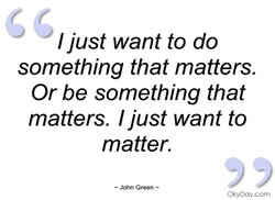 I just want to do 