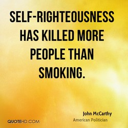 SELF-RIGHTEOUSNESS 