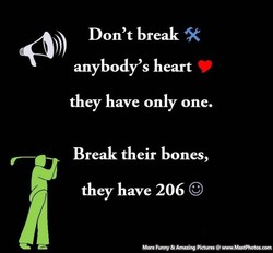 Don't break 