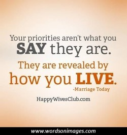 Your priorities aren't what you 
