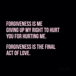 FORGIVENESS IS ME 