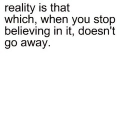 reality is that 