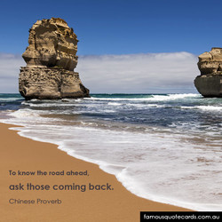 To know the road ahead, 