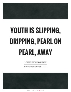 YOUTH IS SLIPPING, 