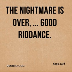 THE NIGHTMARE IS 