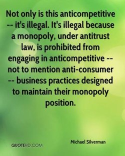 Not only is this anticompetitive 