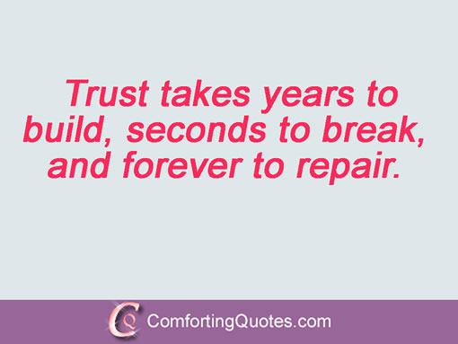 Quotes about Rebuilding trust (62 quotes)