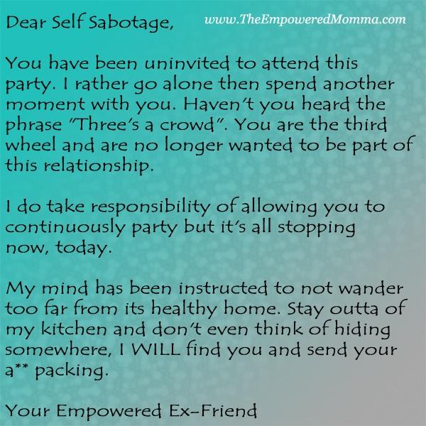 self sabotaging relationship patterns in family
