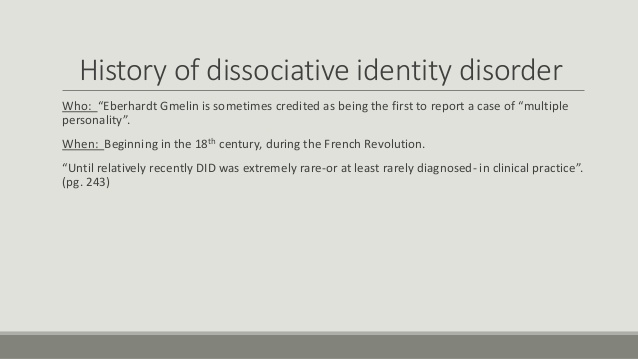 an introduction to dissociative identity disorder