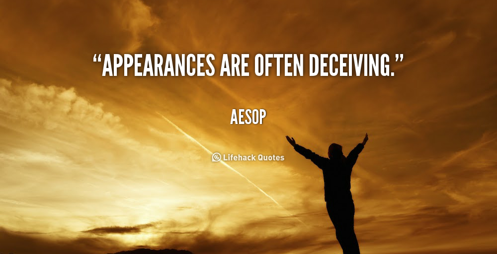 the power and deception of appearances