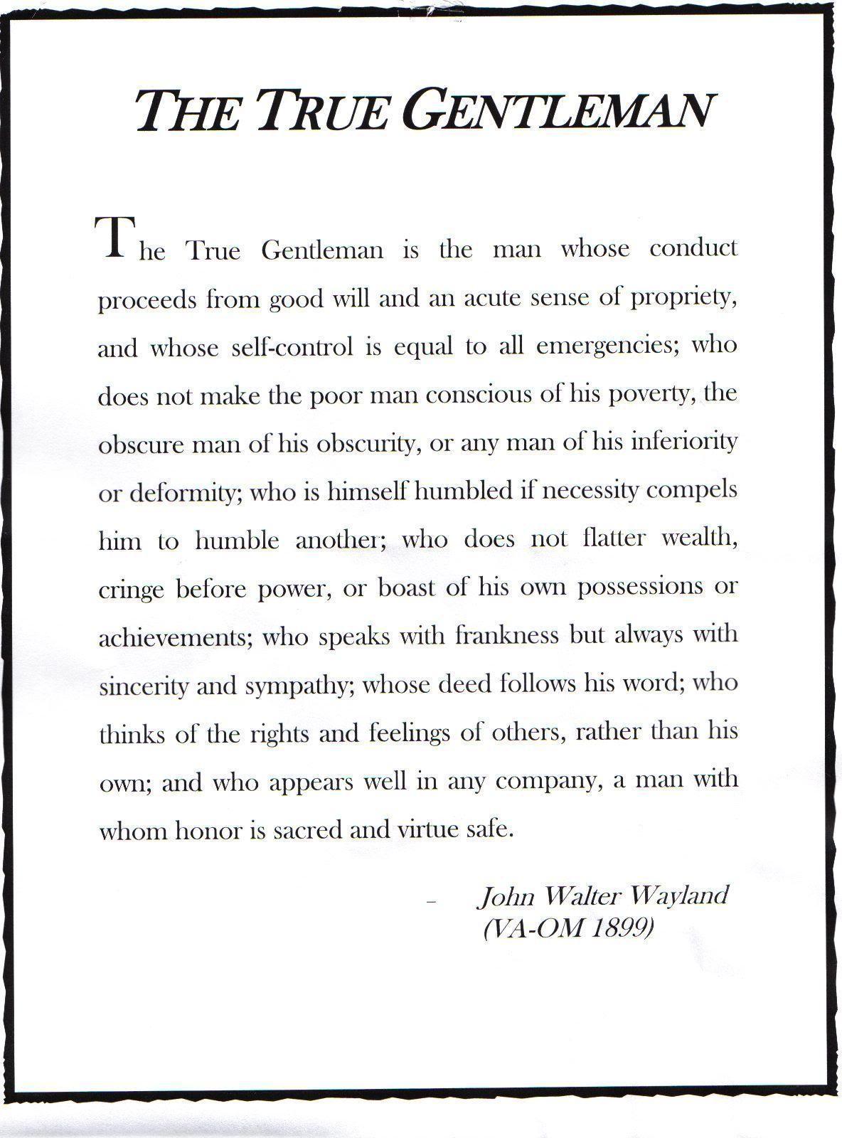 Quotes real gentleman Gentlemen Quotes