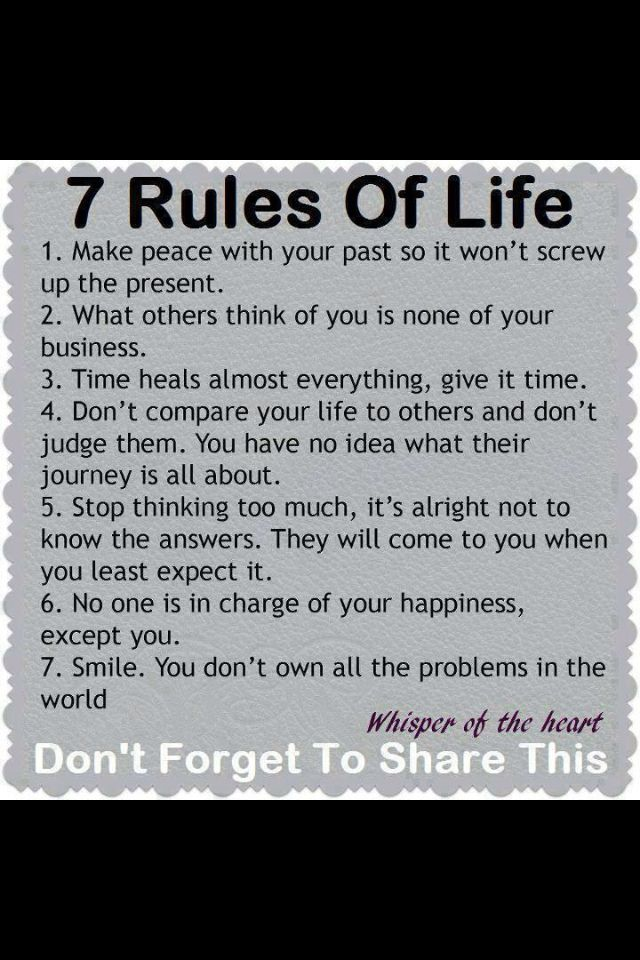 Quotes About Rules Of Life 60 Quotes Interesting 7 Rules Of Life Quote