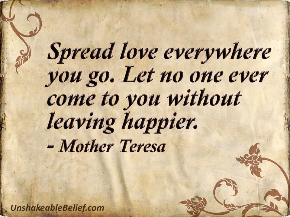 Mother Teresa quotes on life happiness