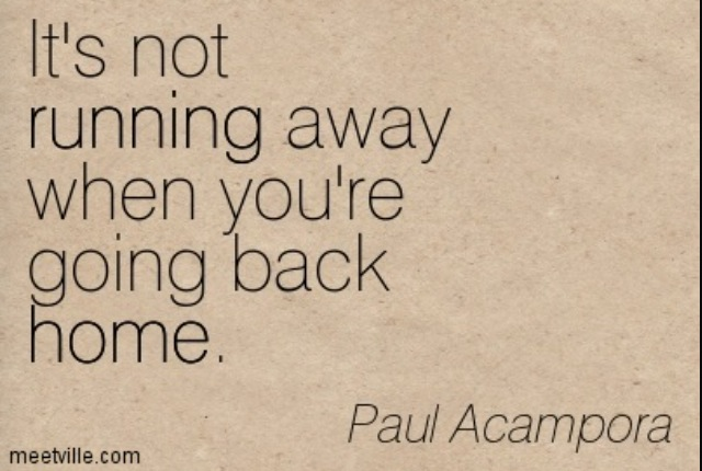quotes about going back home quotes