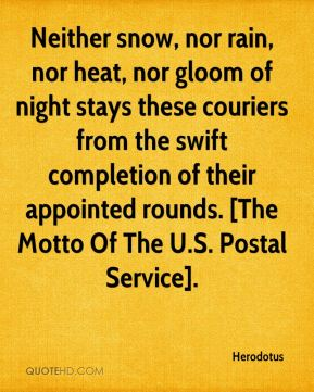 Quotes about Postal Service (68 quotes)
