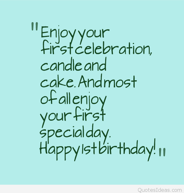 Quotes About First Birthday (64 Quotes