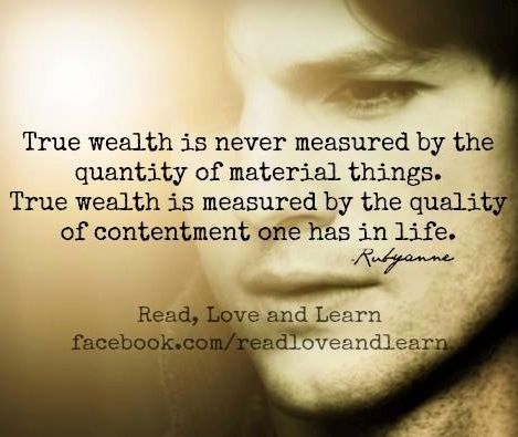 real wealth never measured in terms