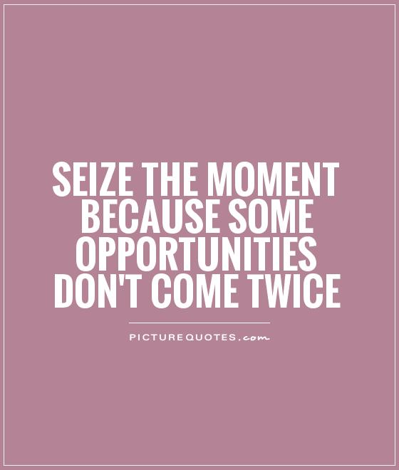 Quotes About Seize The Opportunity 110 Quotes