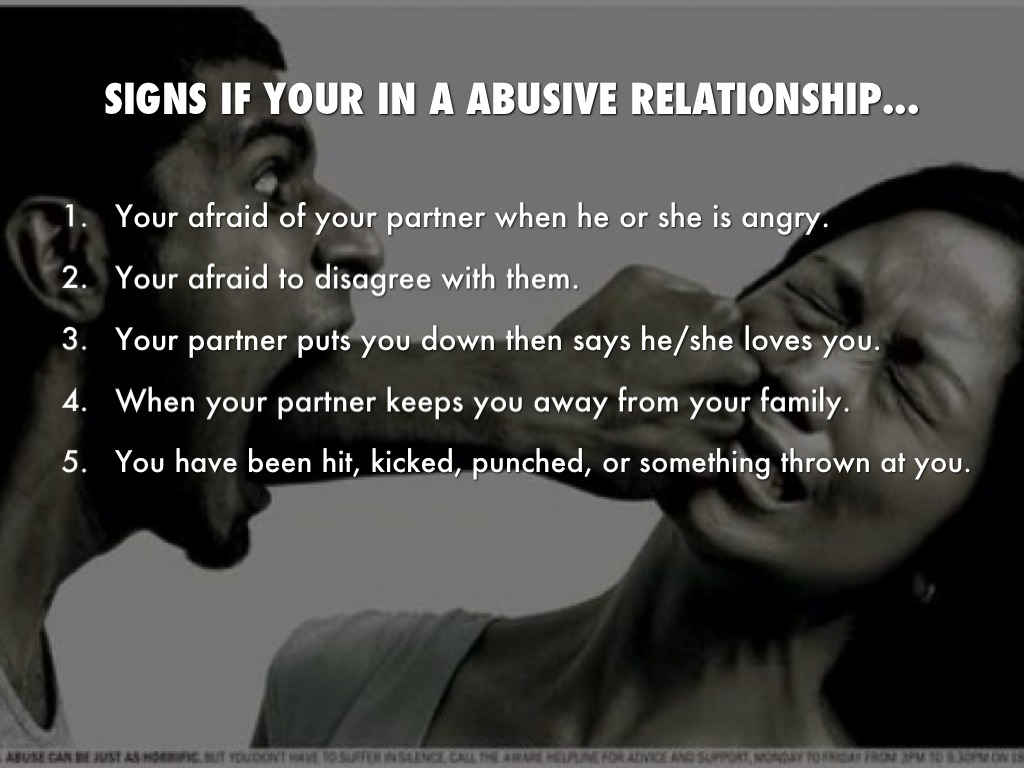 what are the signs of being in an abusive relationship