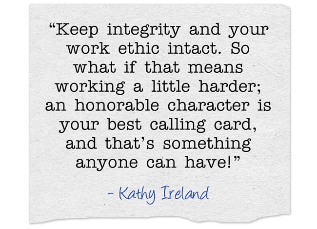 Quotes about Work ethic and integrity (15 quotes)