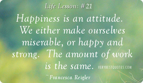 Quotes about Attitude and happiness 66 quotes