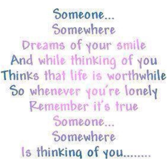Someone thinking about you
