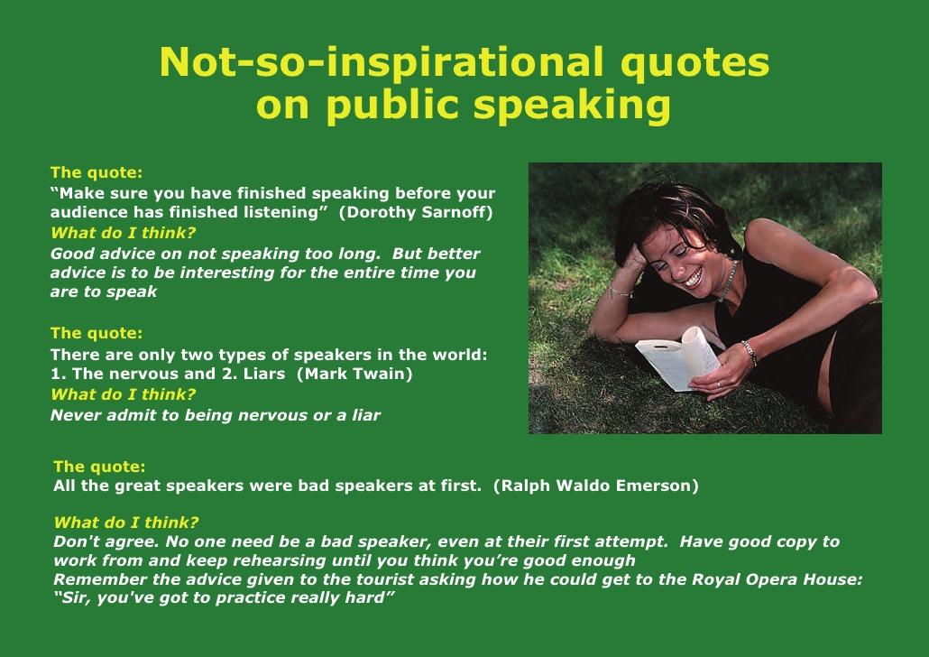 Quotes about Nervous public speaking (19 quotes)