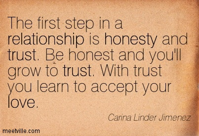 Quotes about Relationship honesty 39 quotes