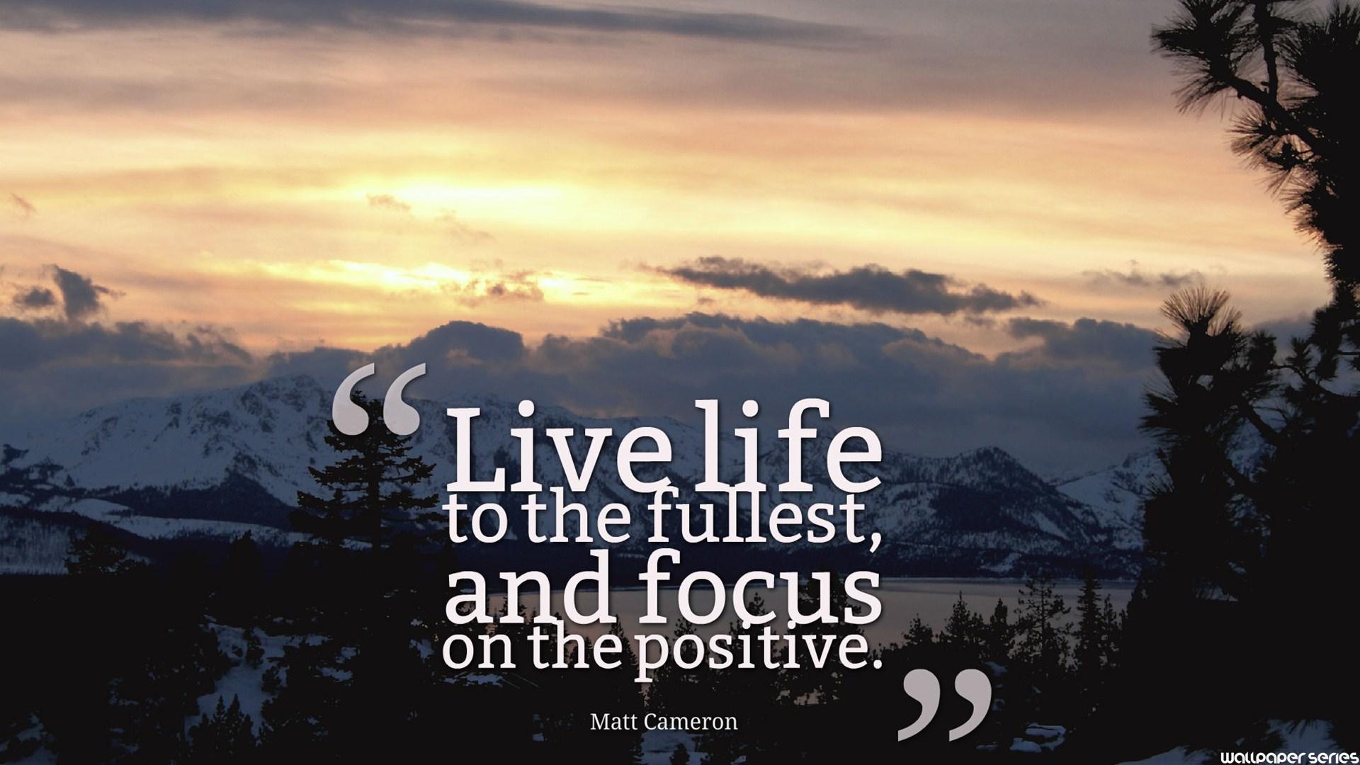 Quotes About Positive Focus 72
