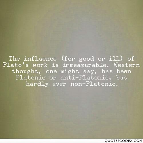 Platonic relationship non Plato and