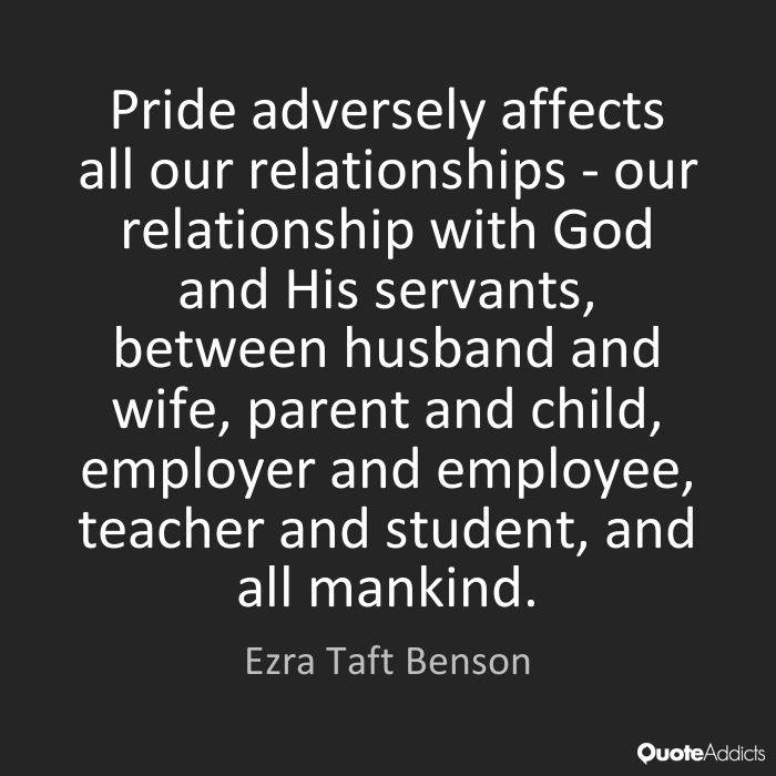 how pride affects relationships