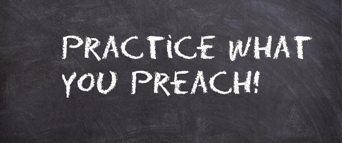 Quotes about Practice what you preach (34 quotes)