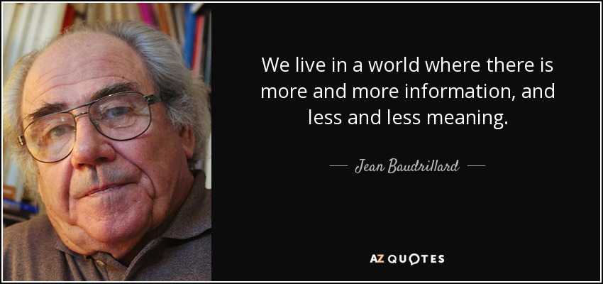 essays on simulacra Jean baudrillard has been referred to as the high priest of postmodernism precession of simulacra: the map precedes the territory it is the real.