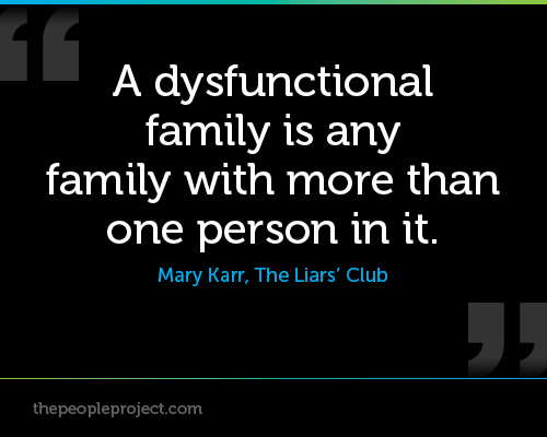 Quotes about Dysfunctional families (51 quotes)