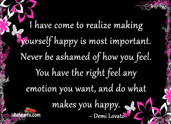 quotes about make yourself happy quotes